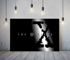 THE X FILES 1- FRAMED CANVAS WALL ART CLASSIC SHOW PICTURE PAPER PRINT- BLACK