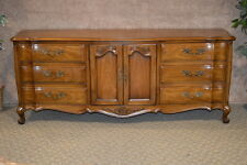 White Furniture Large French Provincial Solid Cherry Triple Dresser
