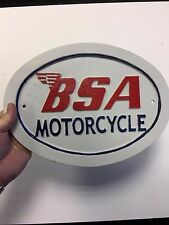 Large BSA Sign motorcycle sign reproduction bike sign BSA motorcycles