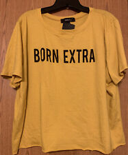 NEW Forever 21 Plus Yellow Graphic Short Sleeve Crop Tee (Size 2X)