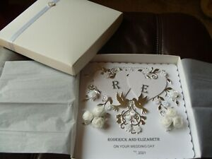 Handmade Personalised Wedding Day Card - Boxed - 8ins x 8ins