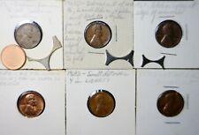 10 pc ERROR US Mint Coin LOT 1952 WHEAT -Mem. Cents 1c Blank Webbing & MORE  NR