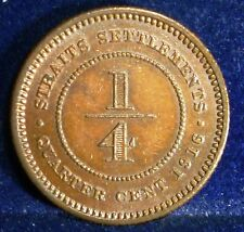 1916 Straits Settlements 1/2 cent