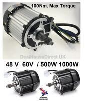 48V 60V 650W 1000W DC Electric Brushless Motor 100 Nm torque Rear Tricycle Bike