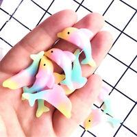 13x35mm Random Mixed Gradient Colours Resin Dolphins Cabochons DIY Decor 10 pcs