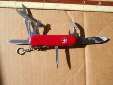 Wenger Traveler Swiss Army knife in red -has  pick ,tweezers, small bend at tip