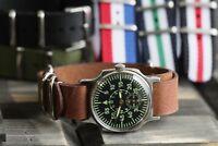 POBEDA Wrist watch Pilot for men  USSR 12 Hours Hazard+band leather