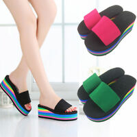 Women Flip Flops Wedge Platform Summer Slippers Beach Sandals Slippers Casual