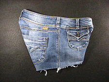 Silver STARR CUTOFF JEANS SHORTS Cut Off W 26 Hot Pants Daisy Duke Low Rise