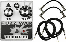 Death by Audio Fuzz War Fuzz/Distortion Effect Pedal Bundle w/FREE Cables!