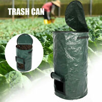 Organic Compost Bag Garden Yard Fertilizer Planter Fruit Waste Collector Bin