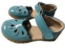 Euc Ln Petal Shoes Livie & Luca Patent Leather Light Blue Petals 12