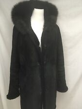 Steve By Searle 100% Suede Ladies Shearling Style Size Large In Vg/Euc