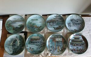 Imperial Jingdezhen Summer Palace series of 8 porcelain plates