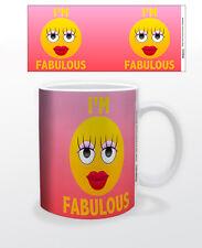 EMOJI I´M FABULOUS 11 OZ COFFEE MUG TEA CUP KEYBOARD FUNNY QUOTE WOMAN CUTE FUN!
