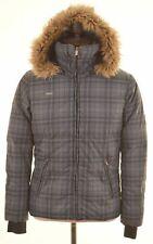 COLUMBIA Mens Padded Jacket Size 36 Small Grey Check Nylon  CI10