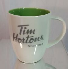 TIM HORTON'S SINCE 1964 COFFEE MUG CUP GREEN INSIDE LIMITED EDITION 2014