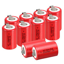 10pcs/pack BTY NiCd 4/5 SubC Sub C 1.2V 2200mAh Ni-Cd Rechargeable Battery Red
