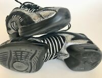 Skazz by Sansha black silver dance shoes sneakers women's 5 gently used