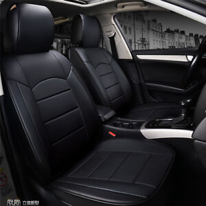Full Set Universal Breathable 5-seat Front & Rear PU Leather Seat Cover For Car