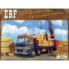 """Original Metal Sign Co Wall Sign ERF Oil Engine Lorries Vintage Advert 8"""" x 6"""""""