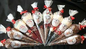 Reindeer Poo Christmas Xmas Filled Goody Cones Bags Sweets Party