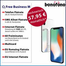 Apple iPhone X 256GB o2 Free Business M - Allnet Flatrate SMS Internet Flat 15GB