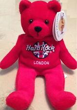 "Hard Rock Cafe LONDON 2000 ""RITA"" Teddy BEARA #2/5 SIGNED Red Bean Bag BEAR"