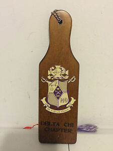 """DELTA CHI CHAPTER """"CHRISTMAS LEADOUT"""" 1961 PADDLE 8 1/4"""""""