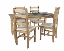 Solid Wood Up to 4 Seats Table & Chair Sets with 5 Pieces