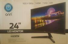 "ONN 24"" Full HD 1920x1080 VGA HDMI 60hz 14ms LED Slim Design Monitor VESA"
