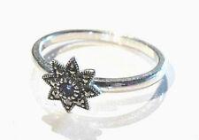 Bijou argent 925 bague étoile marcassites et améthyste taille 58 ring