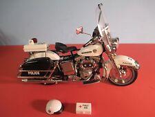 Franklin Mint Diecast hARLEY DAVIDSON POLICE BIKE Motorcycle - 1:10 - No Box