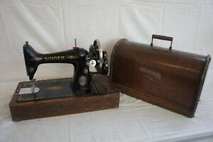Vintage Singer Hand Sewing Machine F8345 - Model 99k? - w/Case
