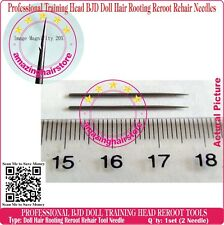 Training Head MLP Barbie BJD Dolls Hair Rooting Reroot Reborn Needle Tools 2 pcs