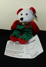 Planet Plush Royal MERRY The Christmas Bear 1998 with tags Numbered Beanbag