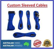 Blue Custom Sleeved PC Cables Kit Silverstone PSU
