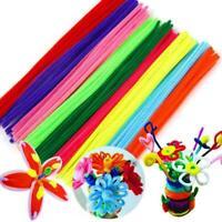 100pcs,Kids Educational Chenille Sticks Pfeifenreiniger Bunte Handwerk_Spie E3D7
