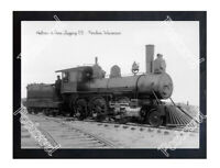 Historic Holmes & Sons Logging RR - Pembine, Wisconsin Train Postcard
