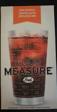 New listing Fred Good Measure Cocktail Recipe Glass Whiskey barware