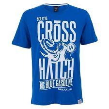 Crosshatch Uomo Ellies T-shirt (blu) Piccola NUOVA CON ETICHETTA
