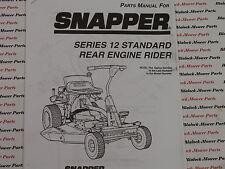 06088 Snapper Series 12 Rear Engine Rider Parts Manual