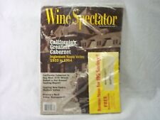 WINE SPECTATOR RARE EDITION SEALED MAGAZINE OCT 31,2001