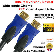 4K@60Hz Wide-angle 21:9 Video Aspect Ratio-Newest HDMI 2.0v Cable 2x 6FT Audio