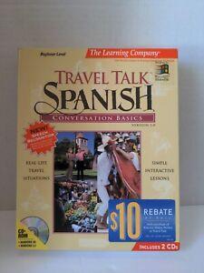 Conversational Spanish Beginner Level PC CD-ROM Big Box Windows 1996