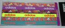 6 Pk adidas Sidespin Graphic Assorted Stretch Elastic Hairbands Sz OS **