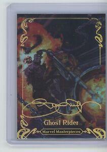 2018 Upper Deck Marvel Masterpieces Ghost Rider GOLD FOIL ACHIEVEMENT rainbow
