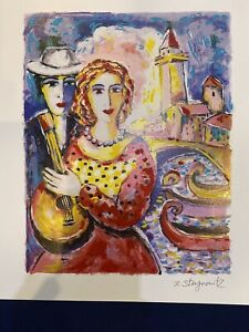 """1999 Zamy Steynovitz, """"Beauty And Beau"""", Signed & No., Seriolithograph In Color"""