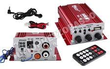 Amplificatore audio 12v 2 canali stereo 500w usb mp3 telecomando per casa auto