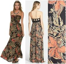 ELEMENT  *SUKI* FLORAL CAGED BACK STRAPLESS MAXI DRESS  Sz XS  Nordstrom  NEW